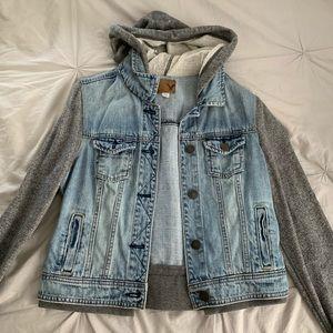 Denim/sweatshirt jacket